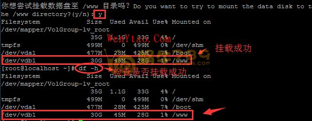 BT-Panel Linux自动磁盘挂载工具 一键挂载数据盘到/www目录