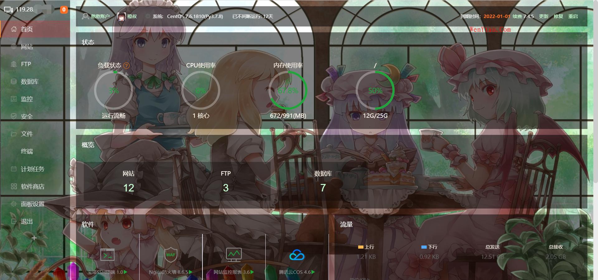 宝塔控制面板美化模板 控制面板 面板 bt BtSoft\panel\BTPanel 第2张