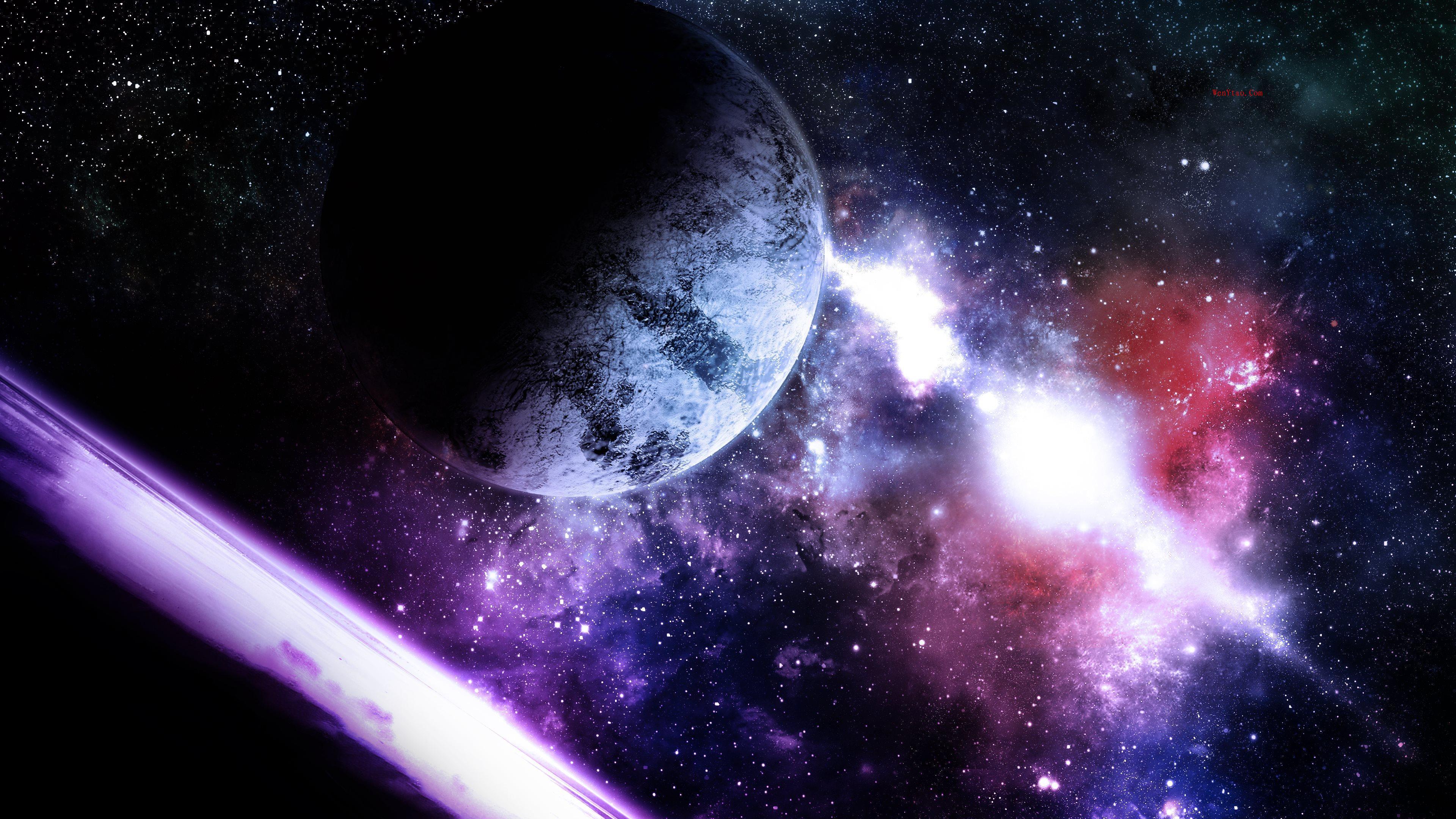风景奇幻梦境山峰星空繁星云雾夜晚星空星球梦幻5k壁纸 风景 第12张