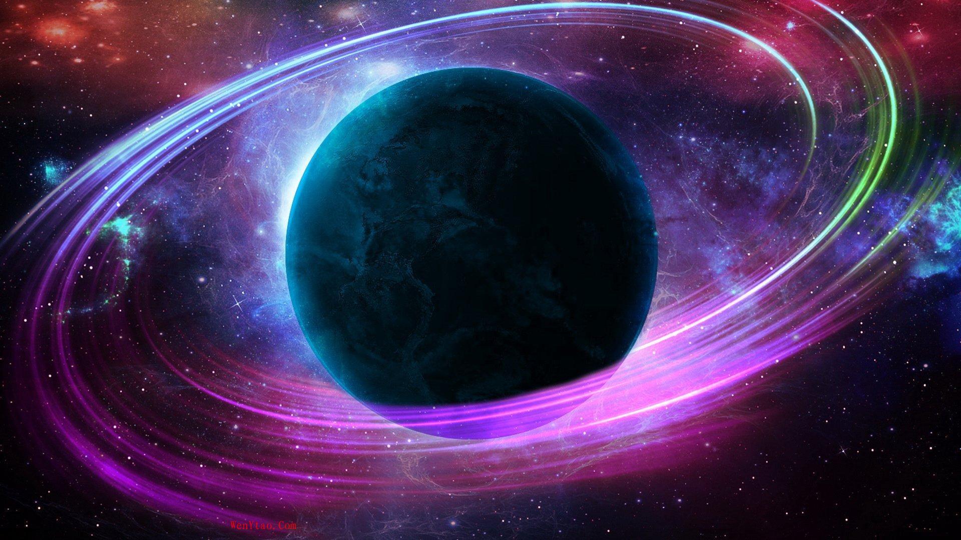 风景奇幻梦境山峰星空繁星云雾夜晚星空星球梦幻5k壁纸 风景 第13张