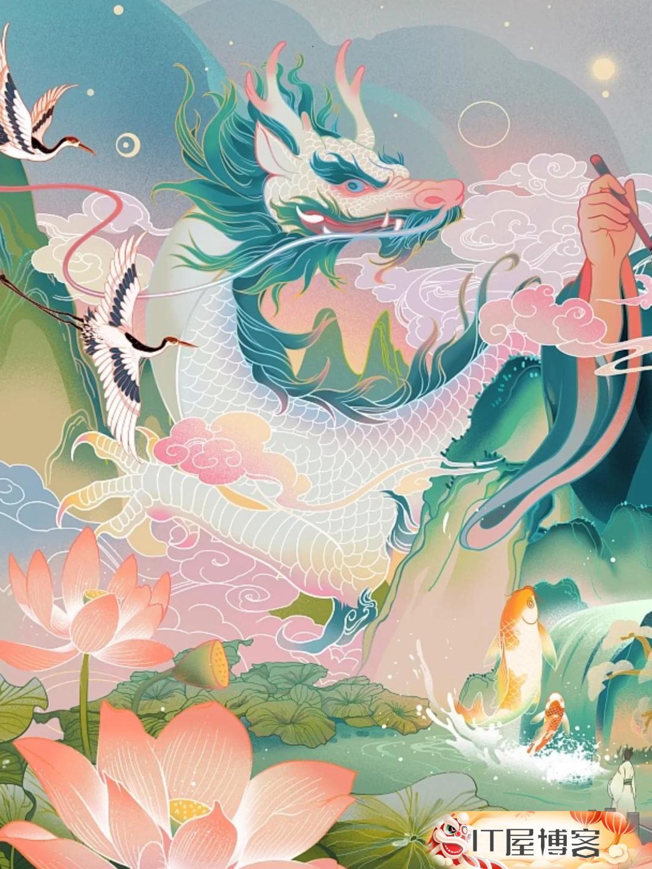 中国风插画国潮插画商业插画 第4张